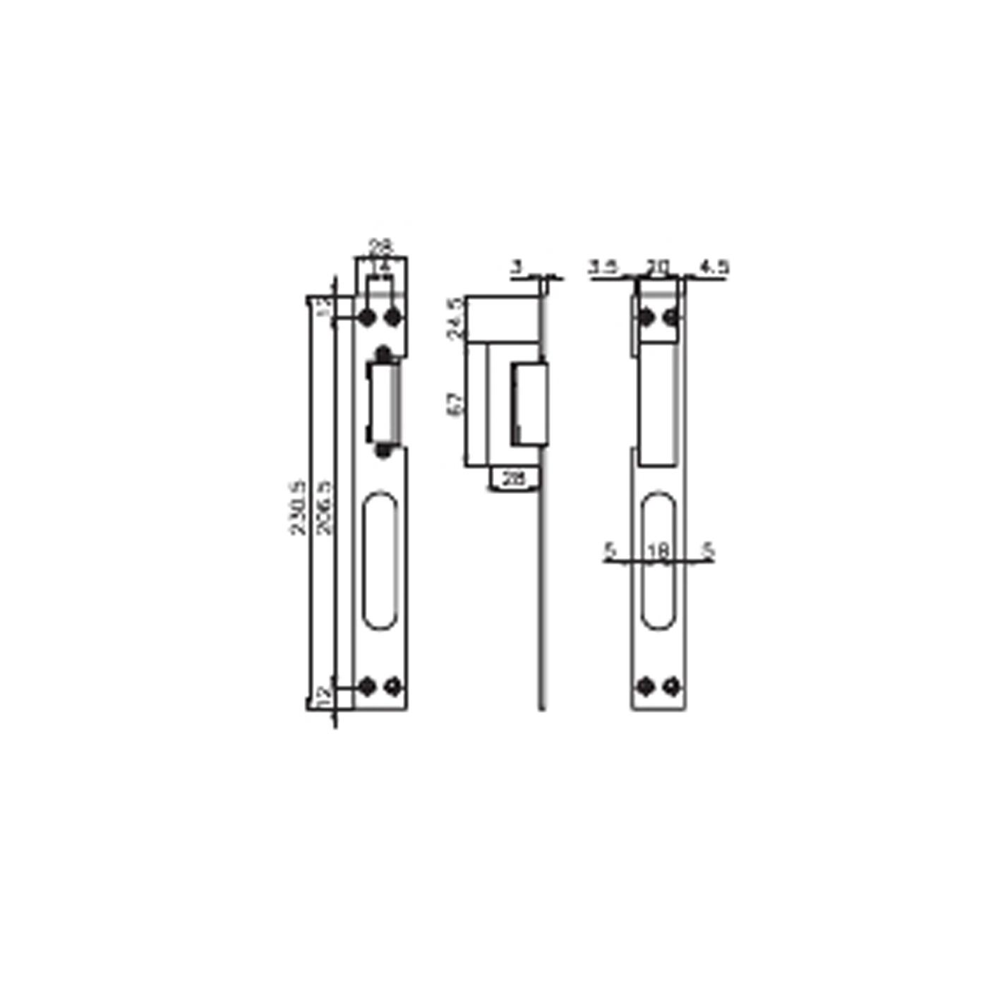 Kale KD012/20-125 Gizli Kapı Otomatiği