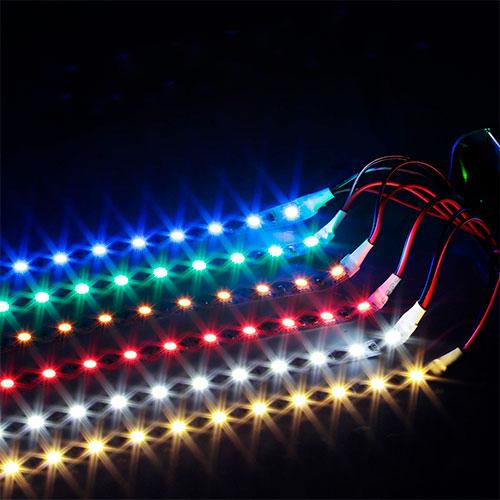3 Çipli 60 Ledli İç Mekan Şerit Led RGB 5mt