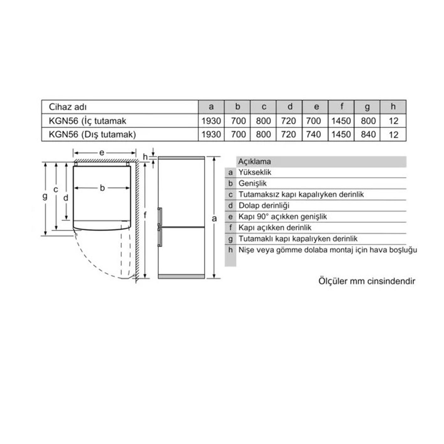 Profilo BD3056W3UN No-Frost Kombi Buzdolabı Comfort Serisi