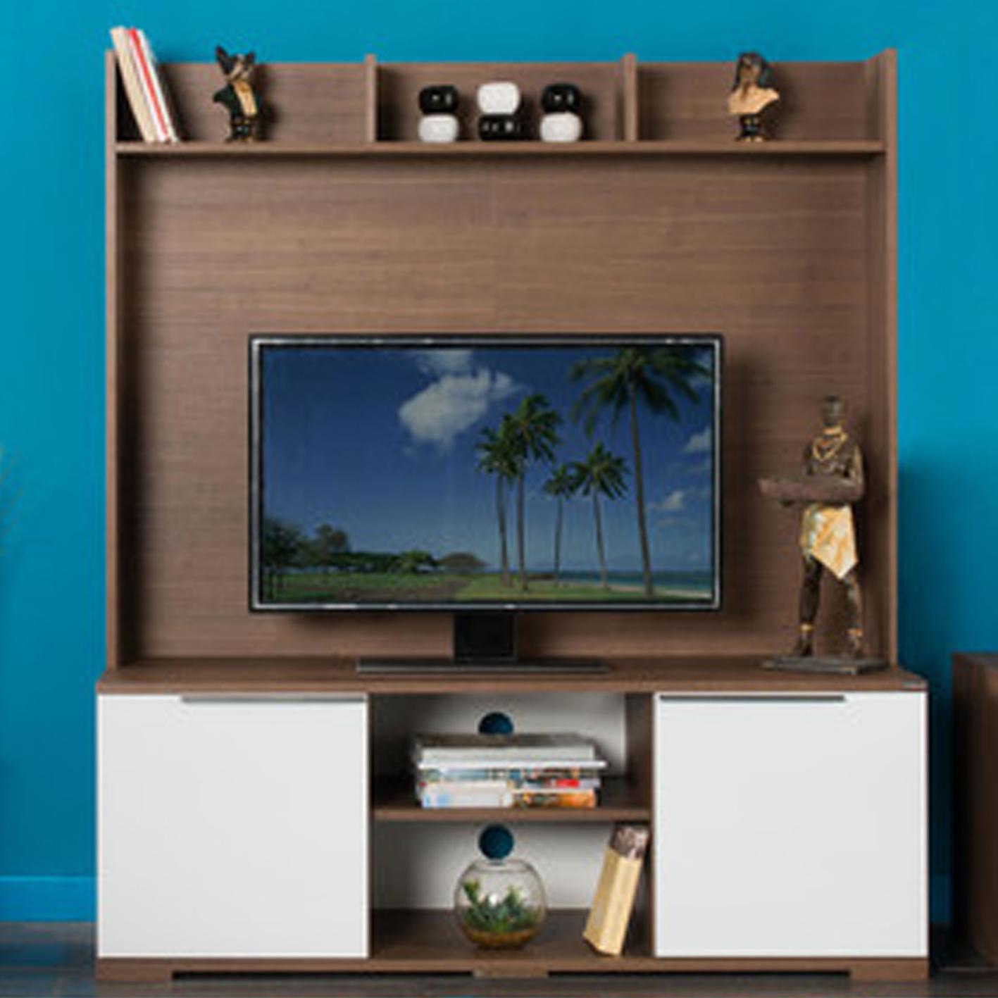 Adore Flat Line Vision TV Ünitesi Noce/Lake Beyaz PTV-20-NB-1
