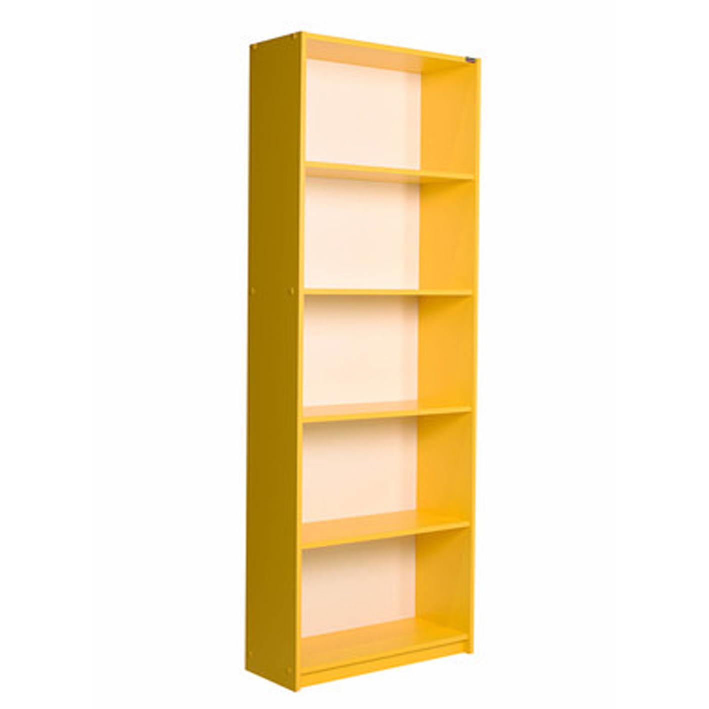 Adore Modern 5 Raflı Kitaplık Sarı