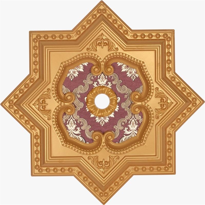 Altın Bordo Yıldız Saray Tavan Göbeği  60 cm (DY60-AB1)