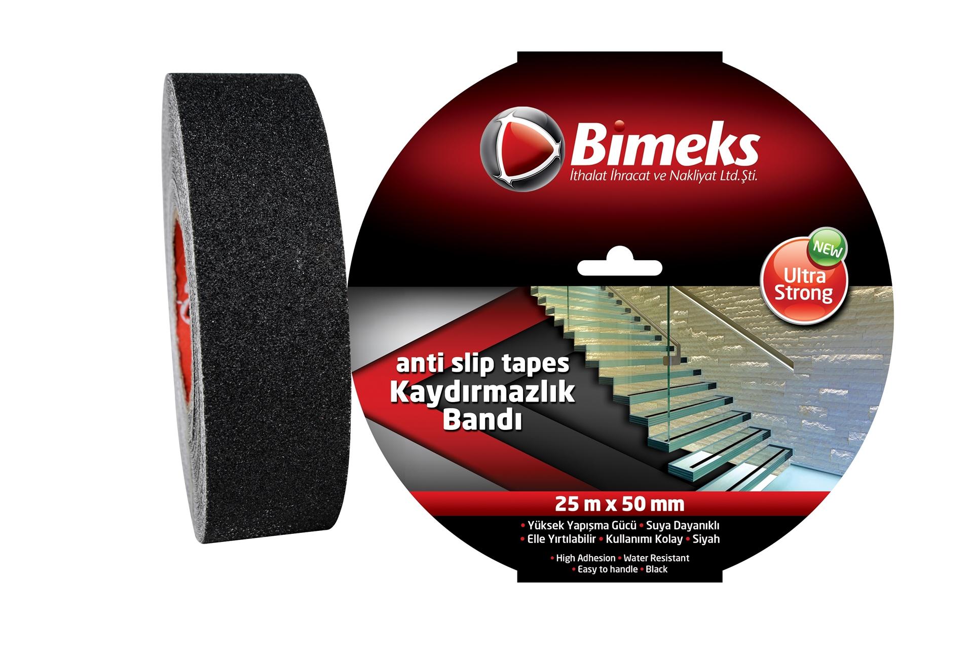 Bimeks Siyah Kaydırmazlık Bandı 25mtx50mm