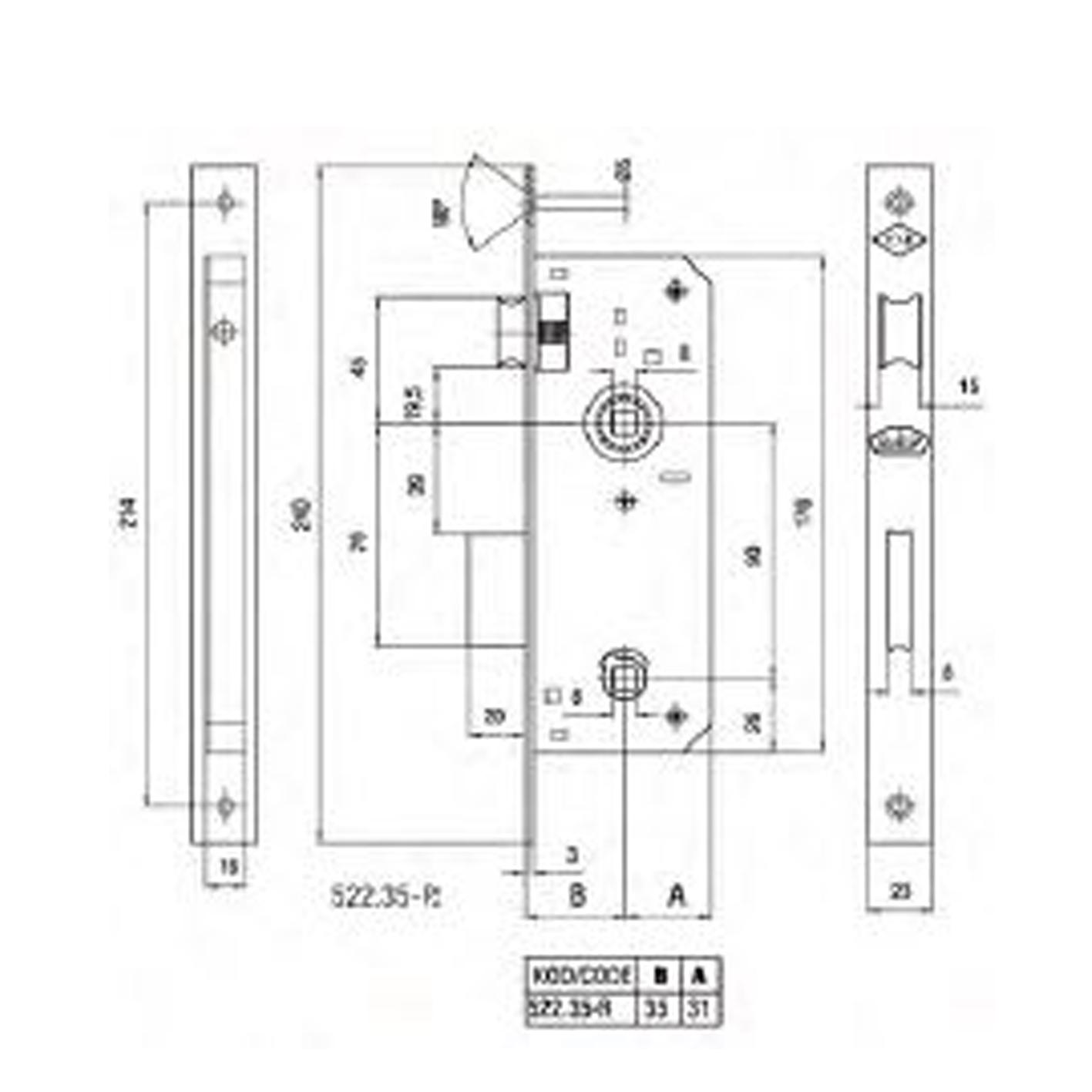 Daf 522 RST WC Kapı Kilidi 35mm