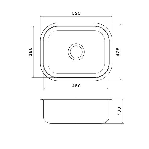 Tezgah Altı Mutfak Evyesi 38x48