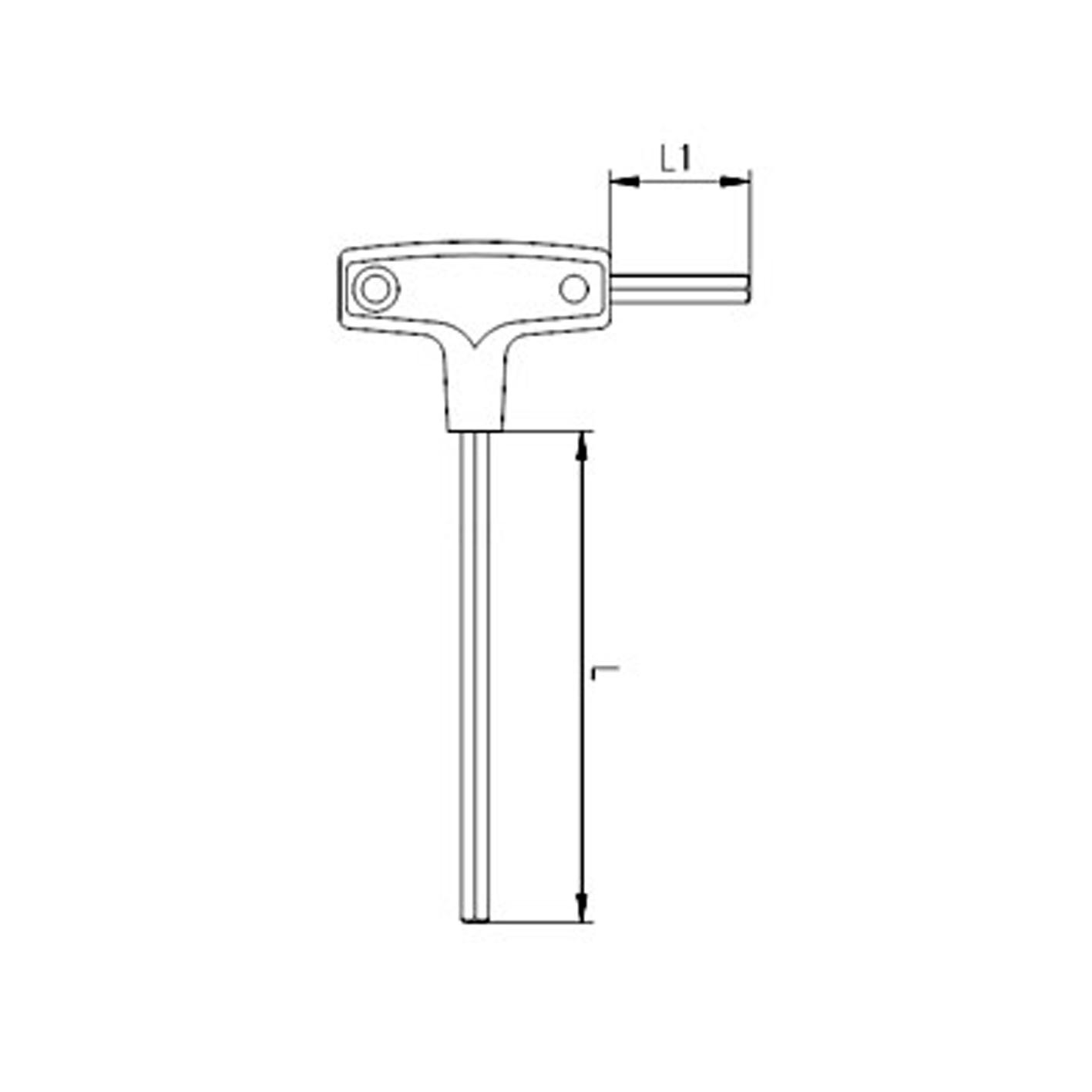 İzeltaş 4mm T Tipi Allen Anahtar