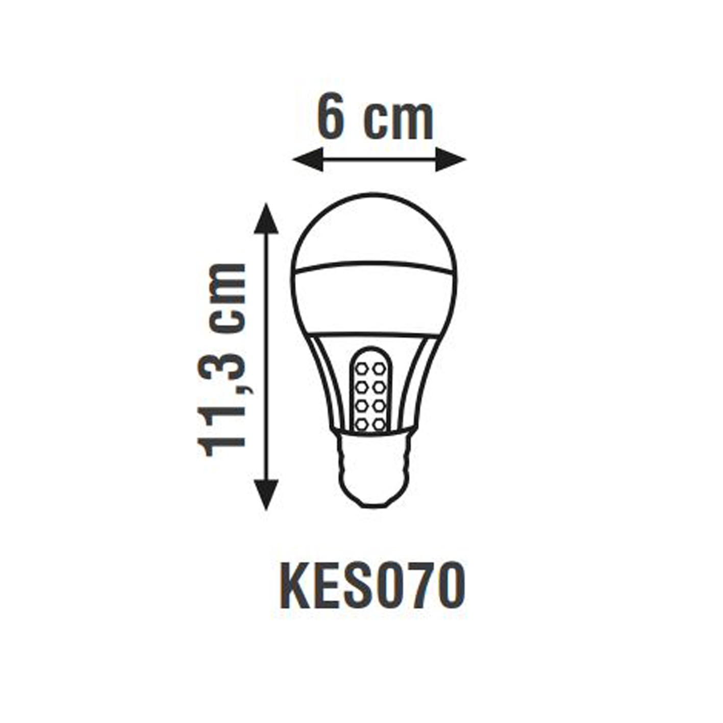 K2 5W 6500K E27 Şarjlı Led Ampul