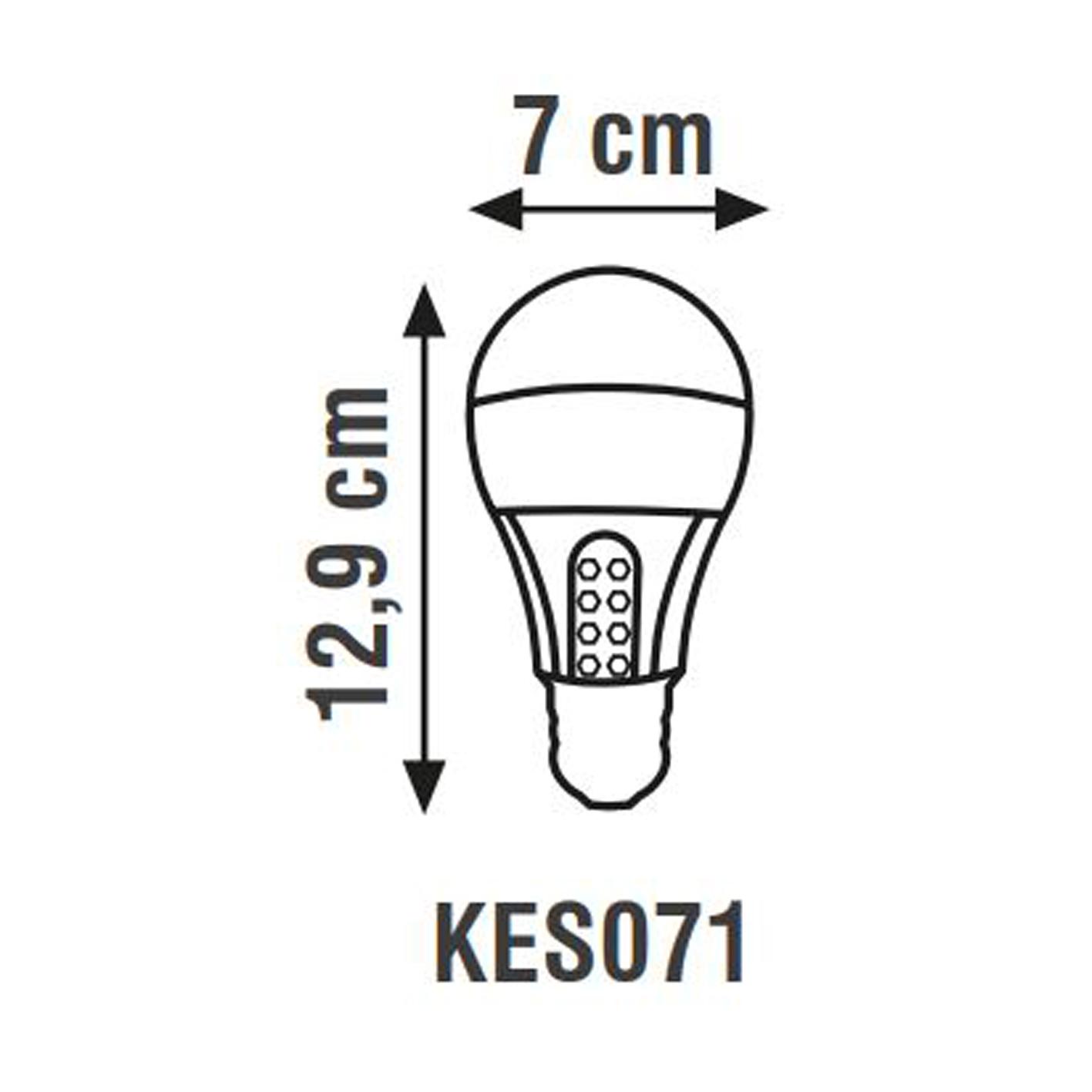 K2 7W 6500K E27 Şarjlı Led Ampul