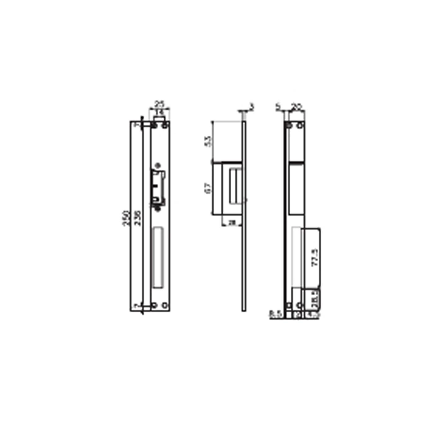 Kale KD012/20-222 Gizli Kapı Otomatiği