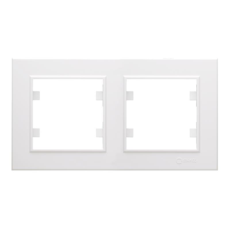 Makel Karea Beyaz İkili Yatay Çerçeve