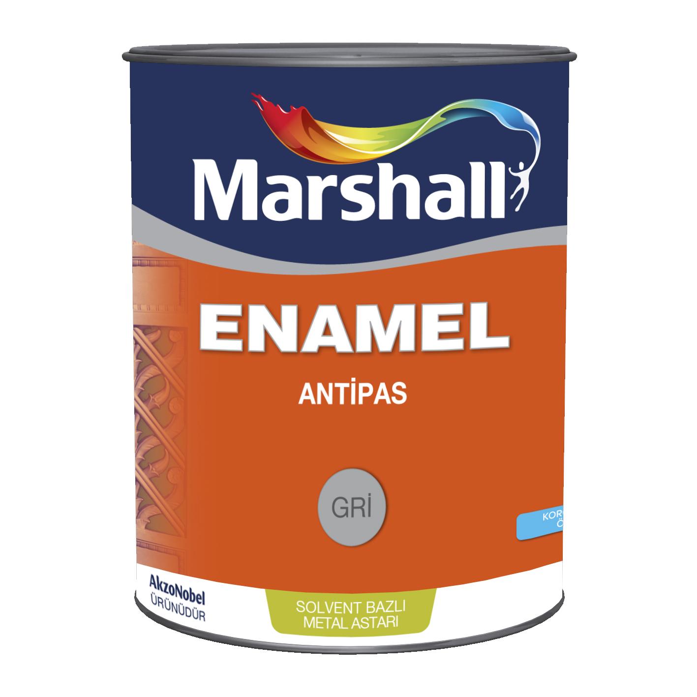 Marshall Enamel Antipas Gri 15Lt