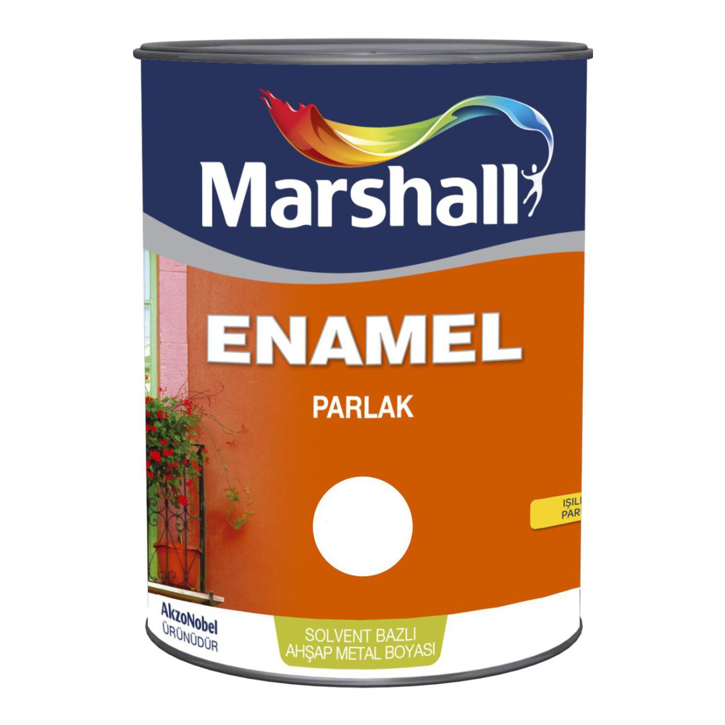Marshall Enamel Parlak Bayrak Kırmızı 0.75Lt