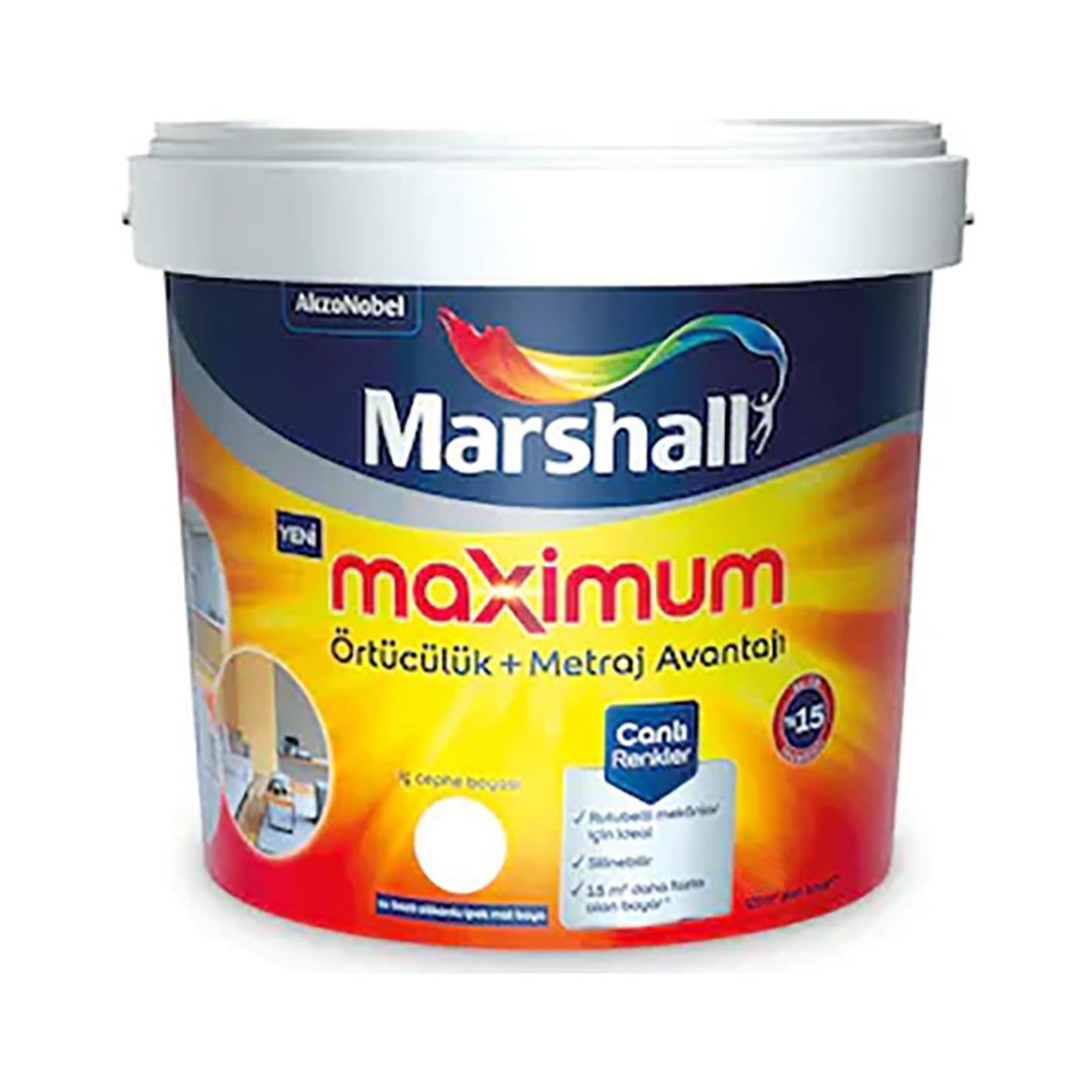 Marshall Maximum İç Cephe Beyaz BW 15Lt