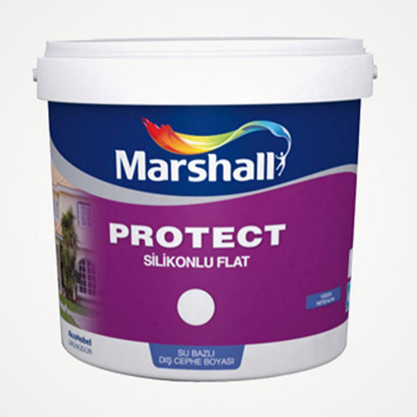Marshall Protect Silikonlu Dış Cephe Beyaz BW 7.5Lt