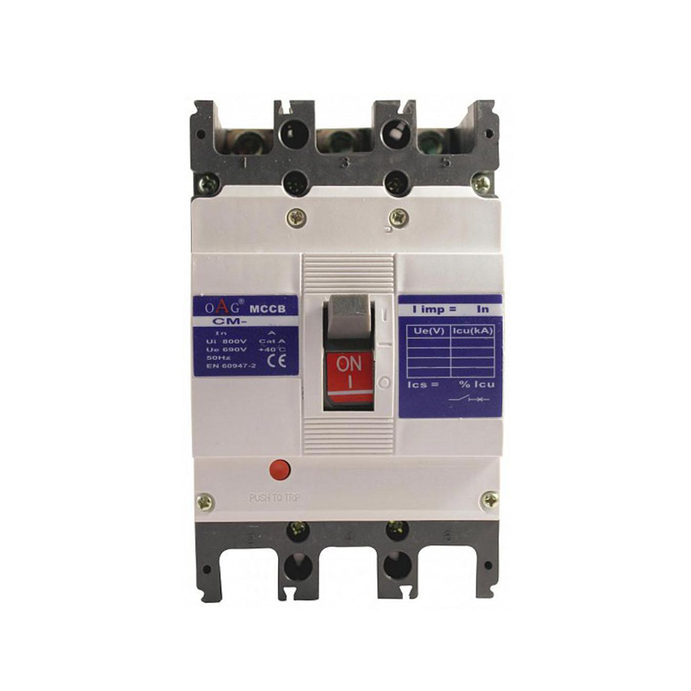 Oag 100A Kompakt Tip Termik Manyetik Güç Şalteri