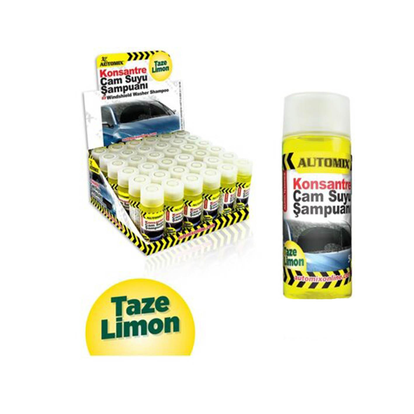 Oto-Automix 50 Ml Cam Suyu Şampuanı Taze Limon