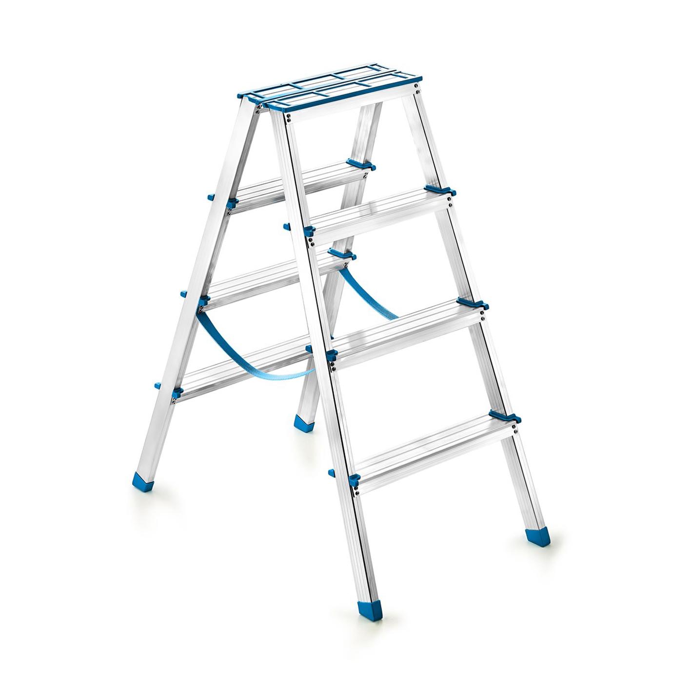 Perilla 4+4 Çift Çıkışlı Alüminyum Merdiven