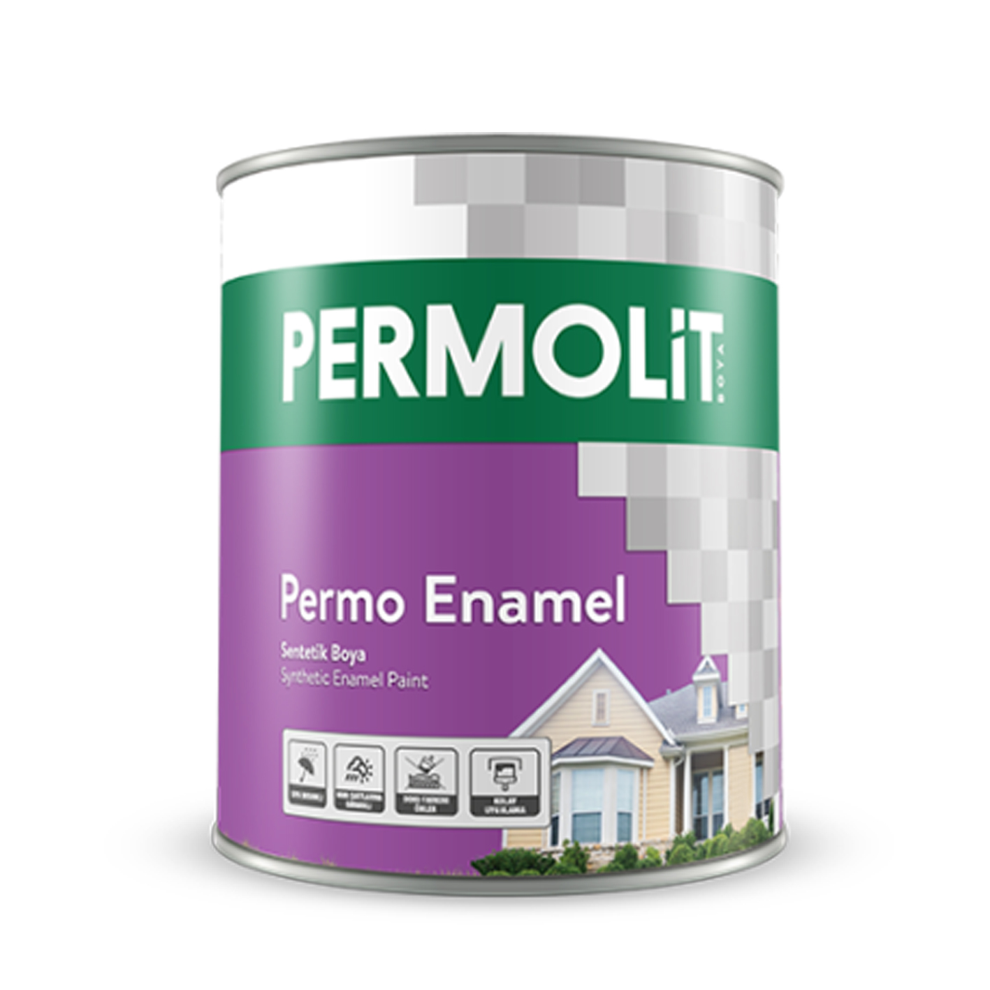 Permolit Permo Enamel Sentetik Siyah 15Lt