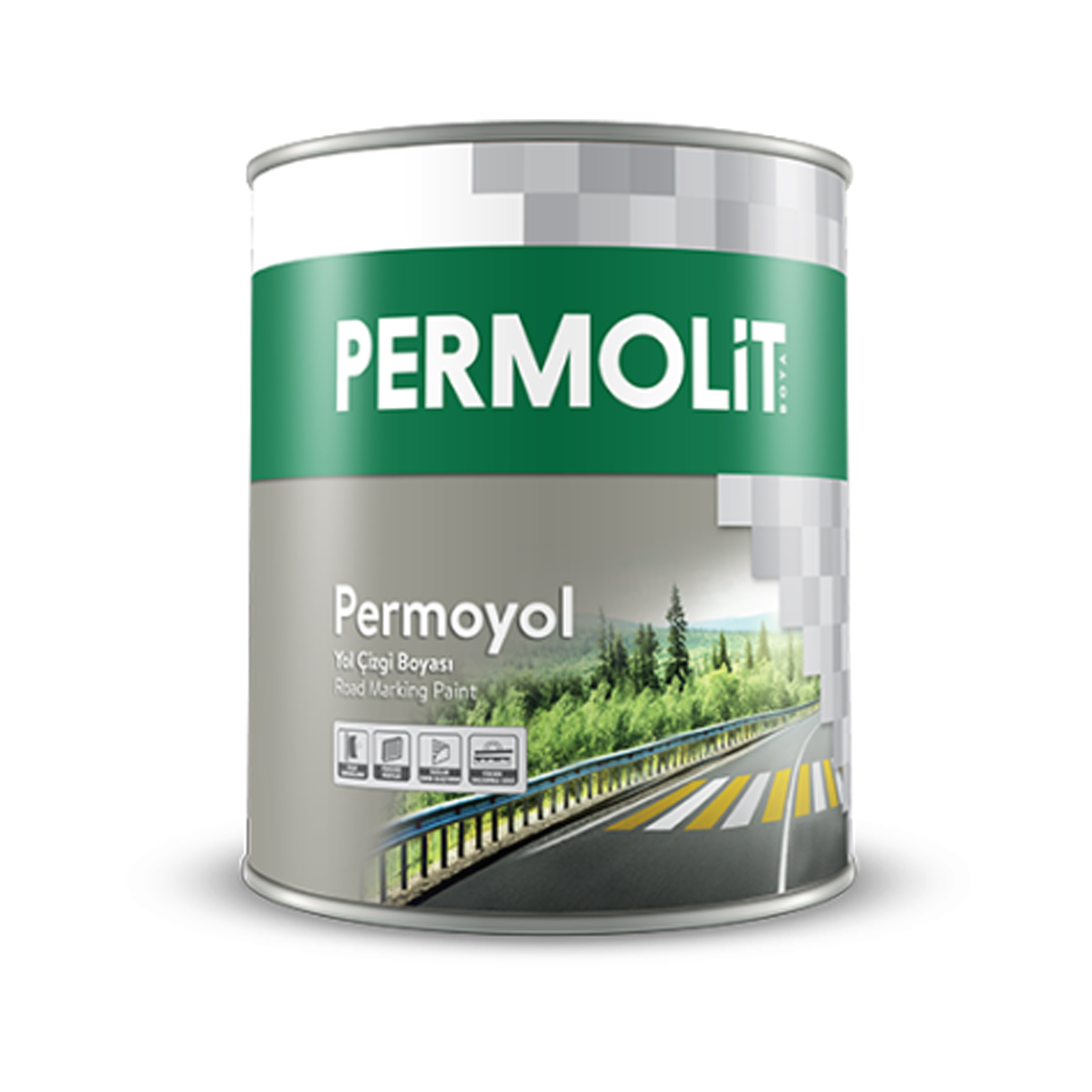 Permolit Permoyol Yol Çizgi Boyası Beyaz 20Kg