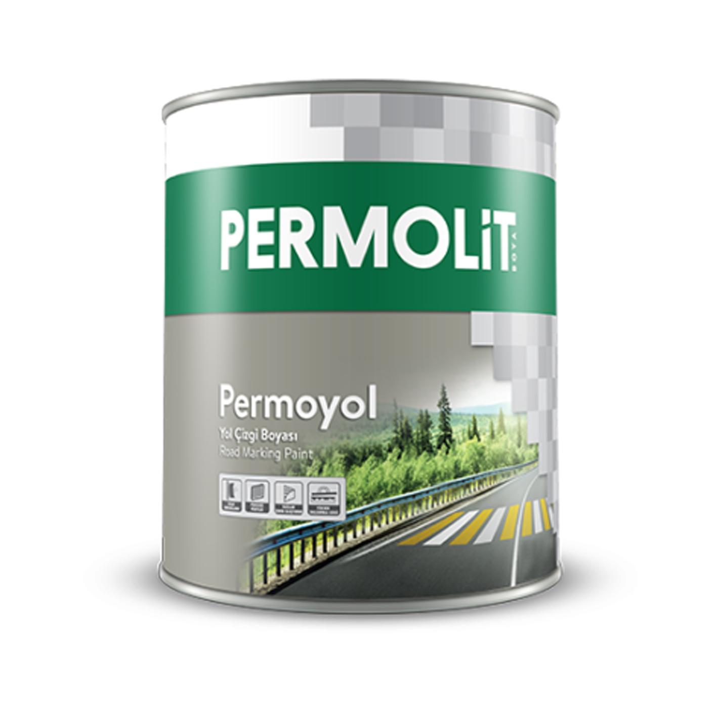 Permolit Permoyol Yol Çizgi Boyası Beyaz 3.5Kg