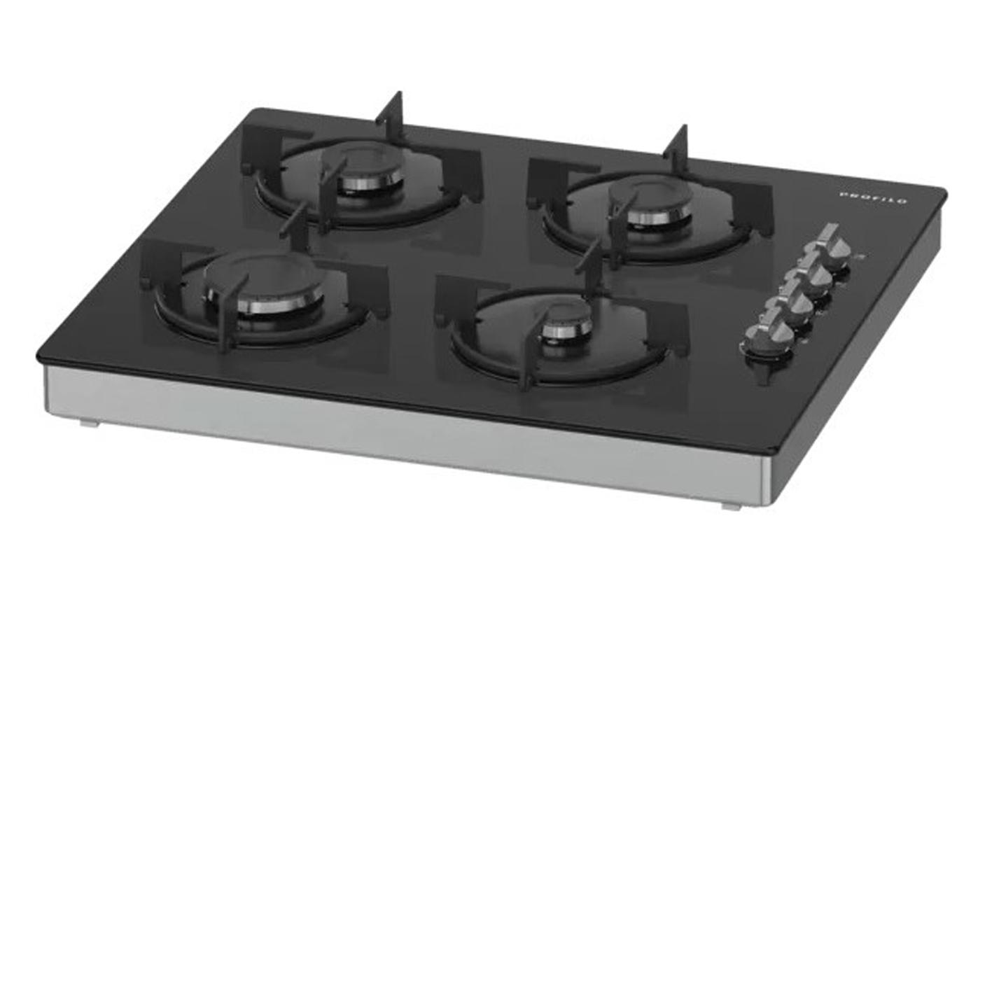 Profilo OO30P6B10D Siyah Camlı Dörtlü Set Üstü Ocak