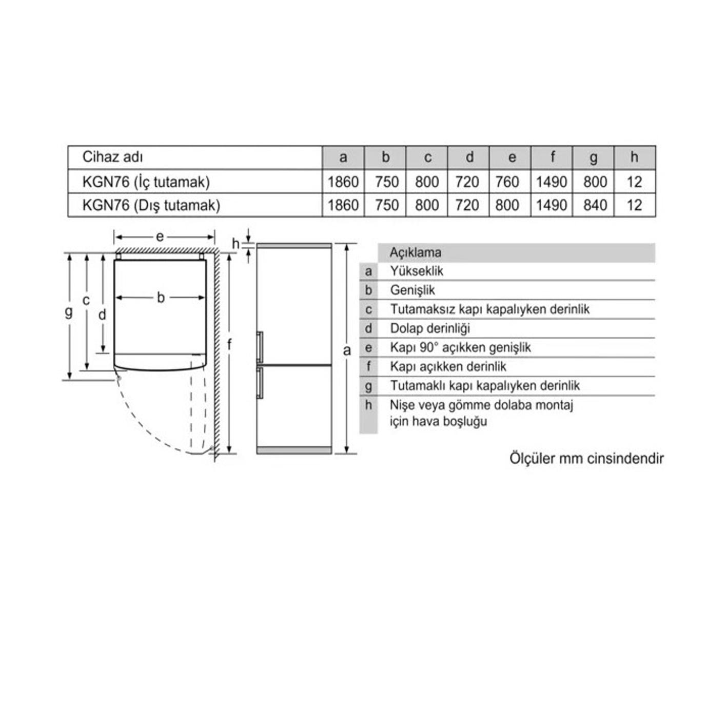 Profilo BD3076W3AN No-Frost Kombi Buzdolabı Süper Serisi XL