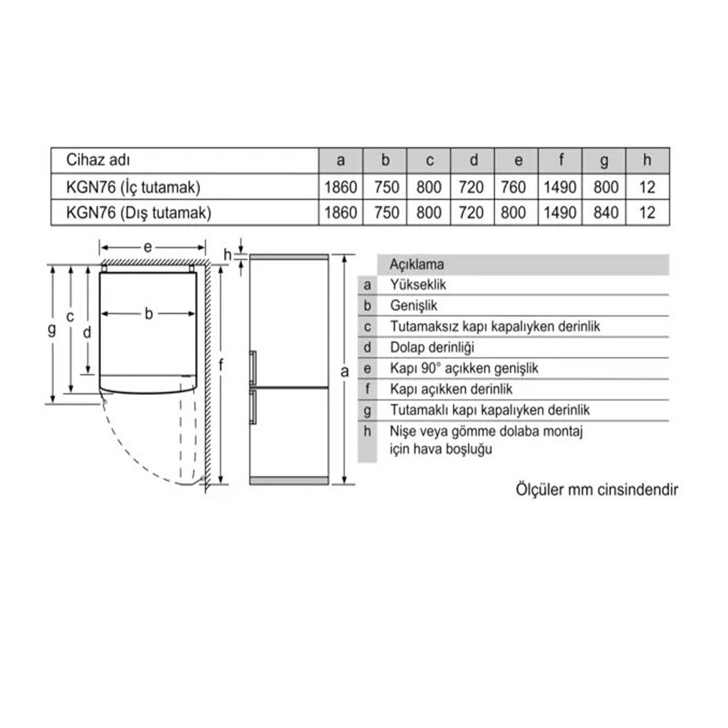 Profilo BD3176I3AN No-Frost Buzdolabı Süper Serisi XL