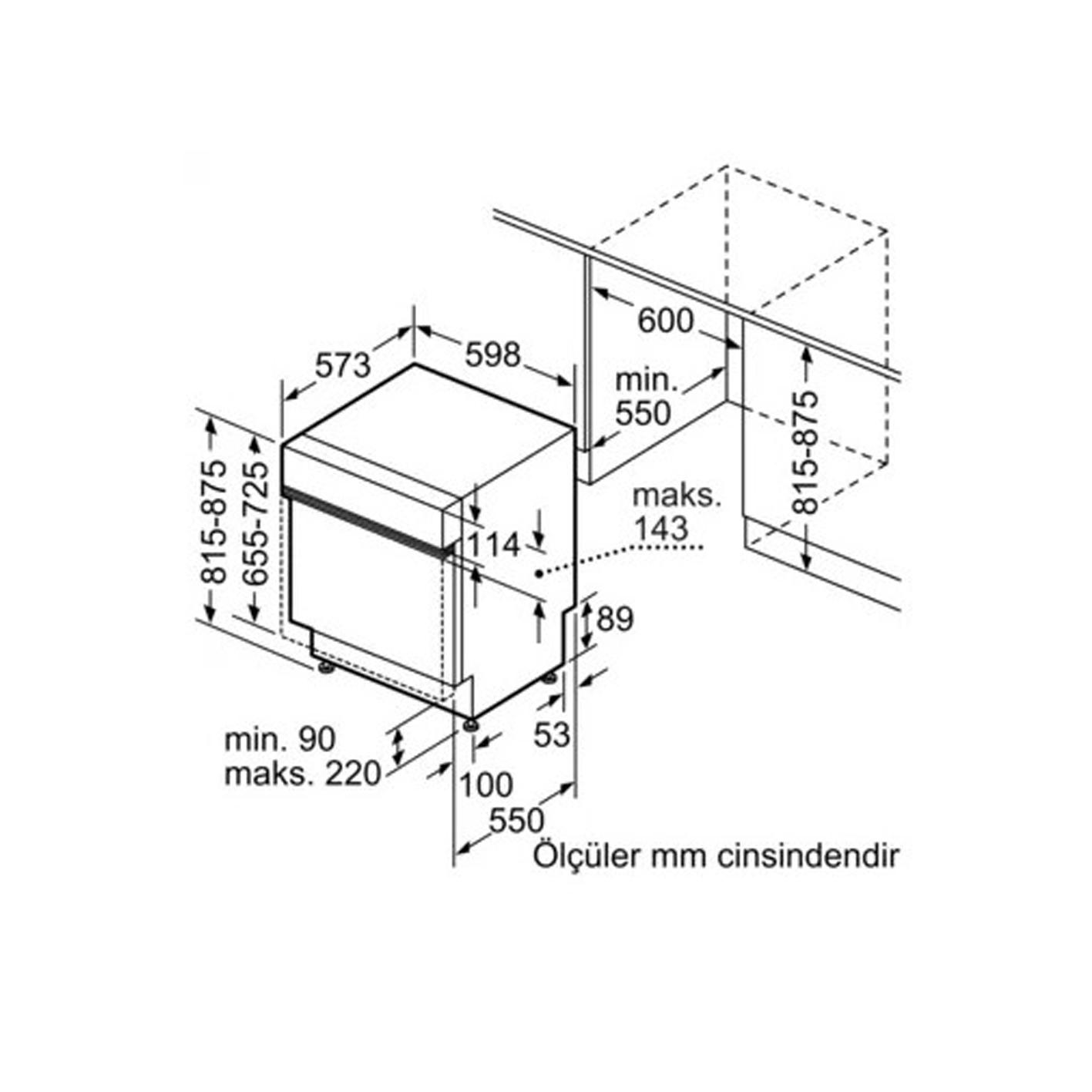 Profilo BMA5161EG Yarım Ankastre Bulaşık Makinesi