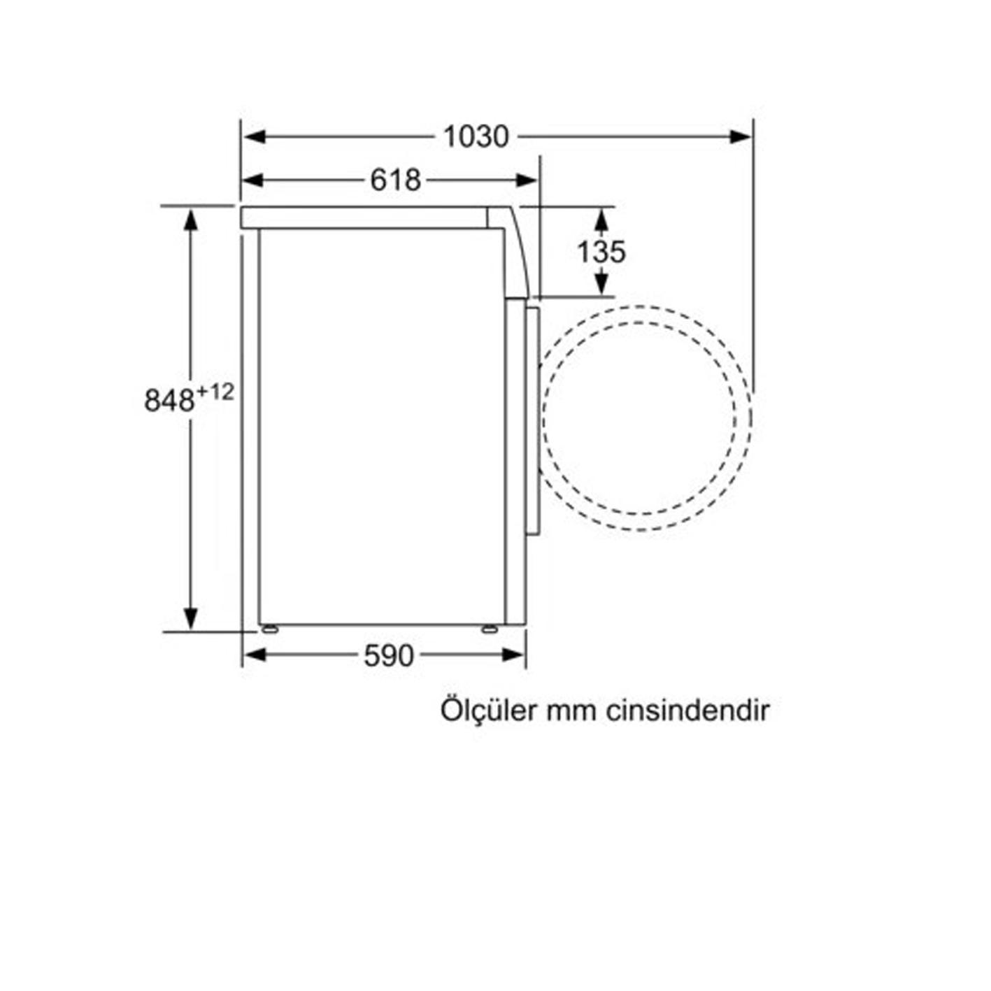 Profilo CMG12SDTR Çamaşır Makinesi