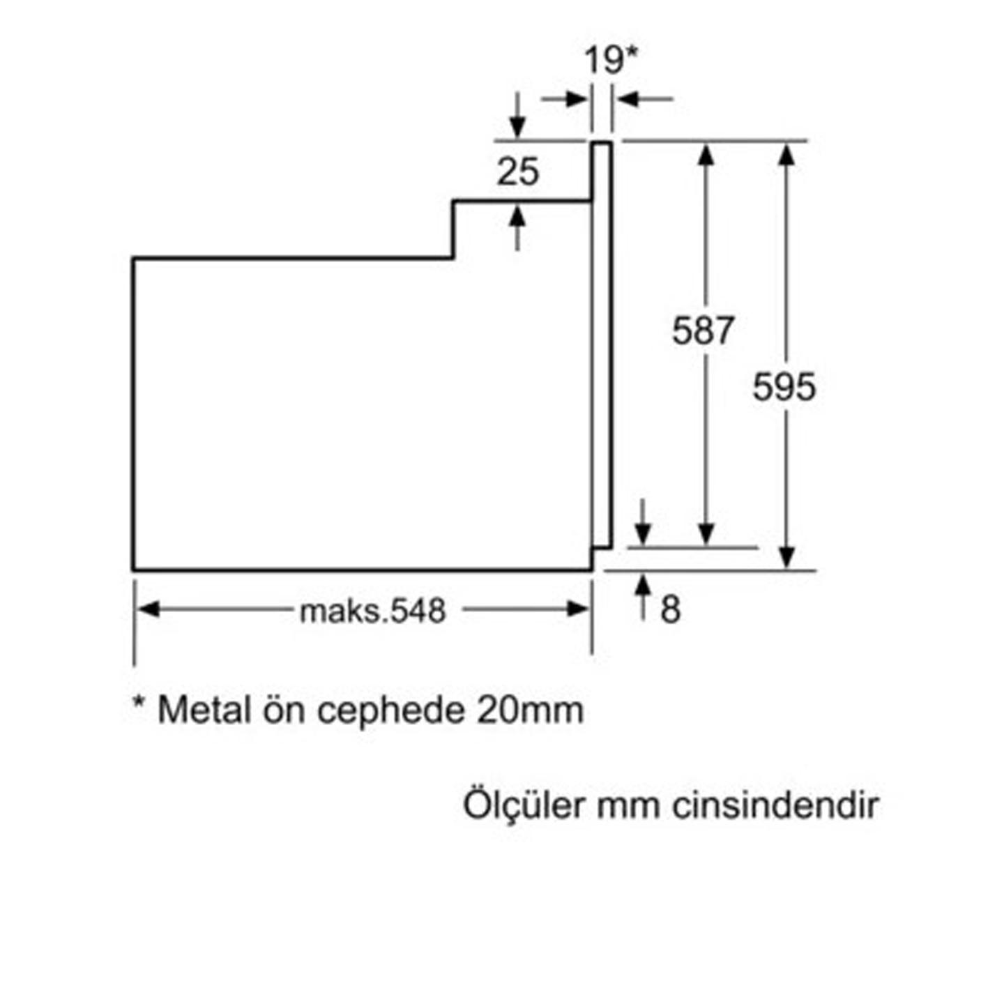 Profilo FRMA125T Ankastre Elektrikli Fırın