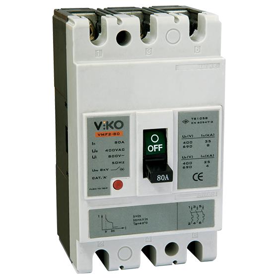 Viko 80A Kompakt Tip Termik Manyetik Güç Şalteri
