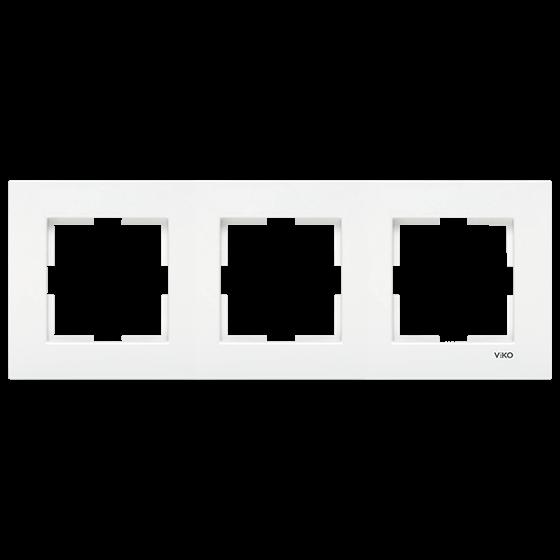 Viko Karre Beyaz Üçlü Çerçeve