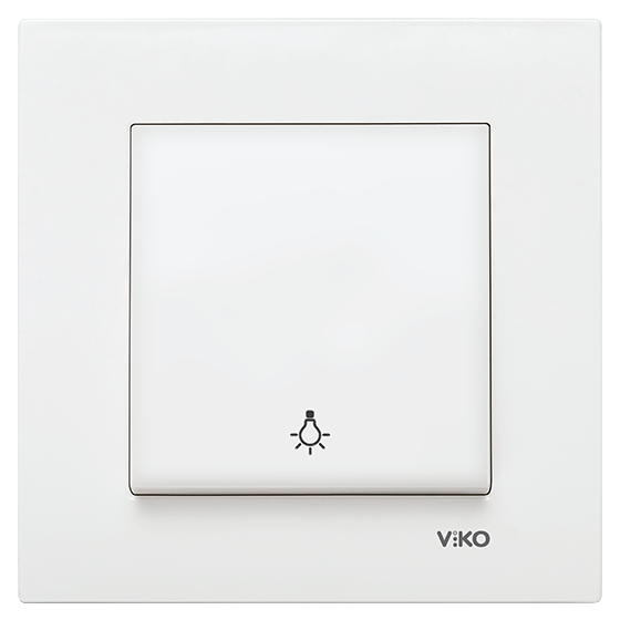 Viko Karre Beyaz Light Anahtar