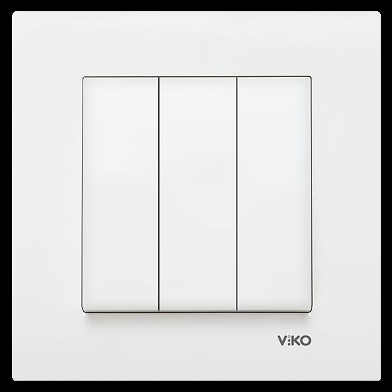 Viko Karre Beyaz Üçlü Anahtar