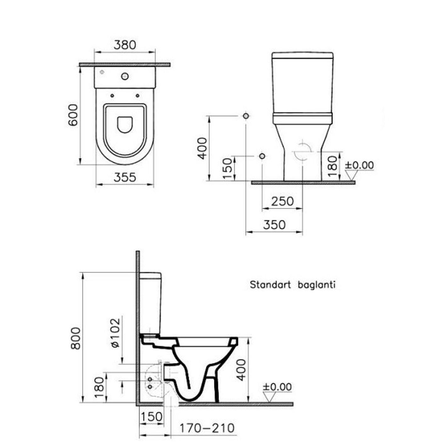 Vitra S50 Duvara Sıfır Klozet + Rezervuar