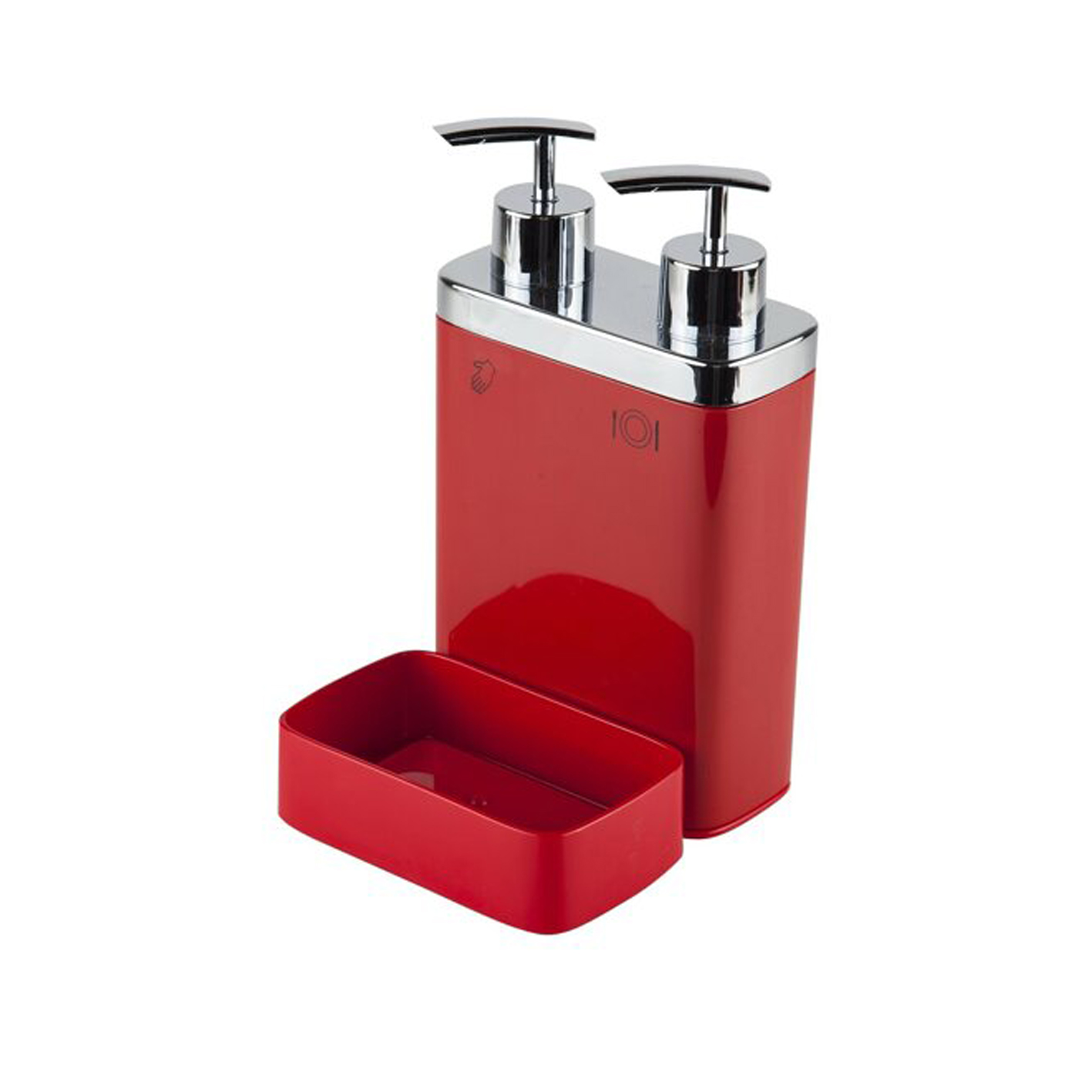 Viva 2'li Süngerli Sıvı Sabunluk Kırmızı