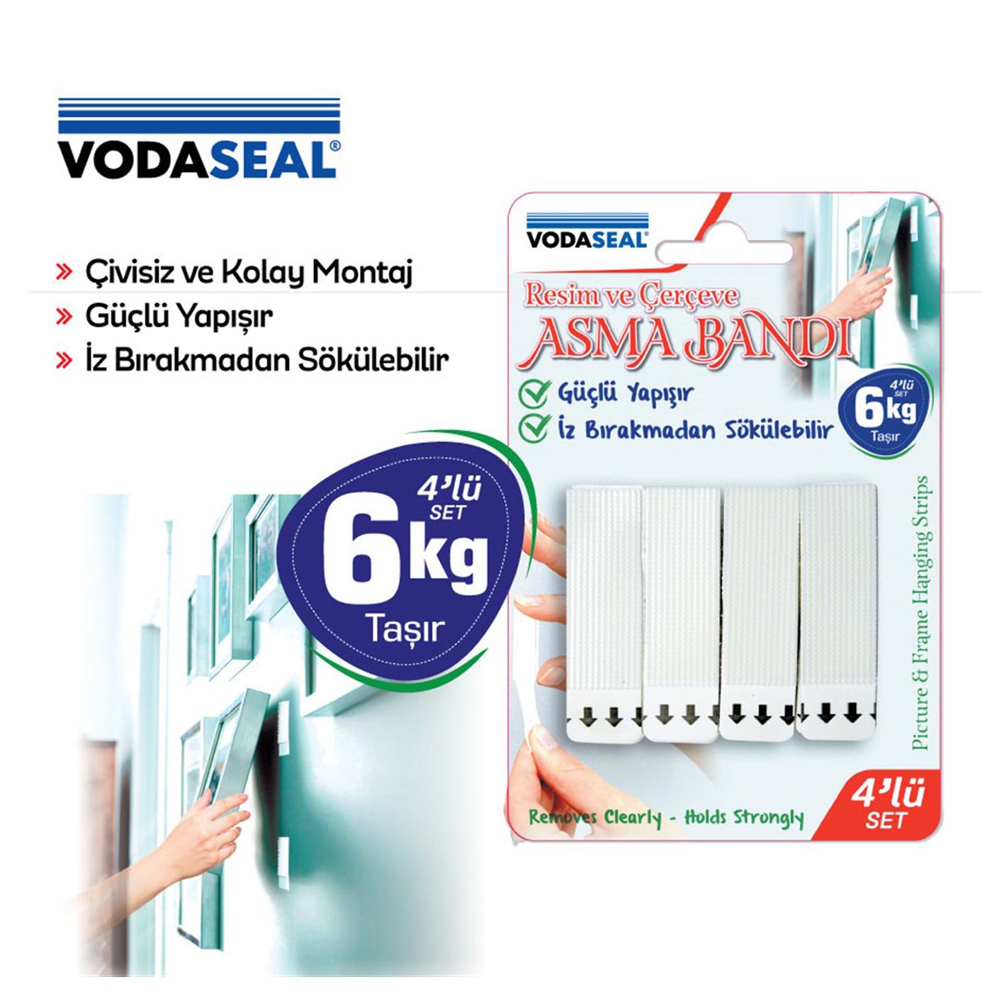 Vodaseal Resim Ve Çerçeve Asma Bandı 4 Lü Set